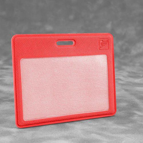 Карман горизонтальный с дополнительным отделением, цвет красный