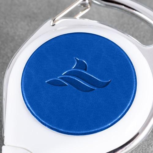 Карман с ретрактором универсальным, цвет синий classic
