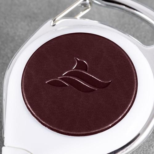 Карман с ретрактором универсальным, цвет коричневый classic