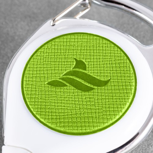 Карман с ретрактором универсальным, цвет зеленый