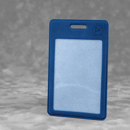 Карман вертикальный с дополнительным отделением, цвет темно-синий