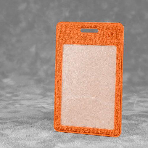 Карман вертикальный с дополнительным отделением, цвет оранжевый