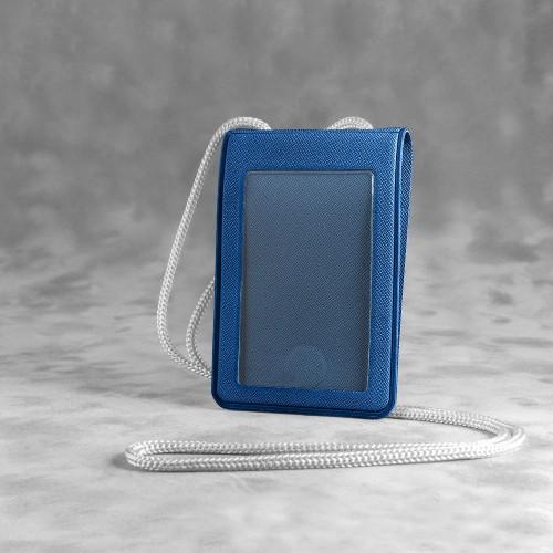 Карман с магнитным замком - вертикальный, цвет темно-синий
