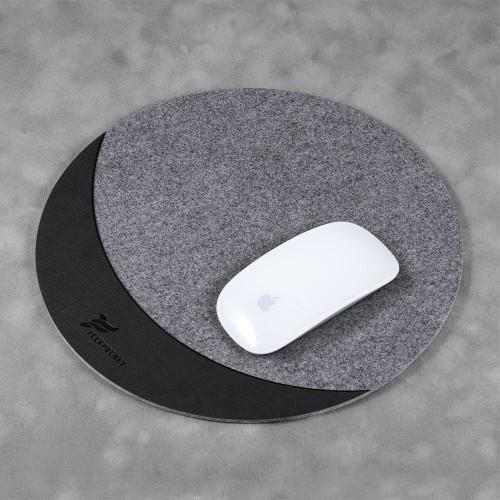 Коврик для мыши из фетра, цвет черный