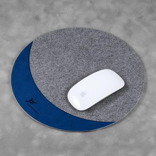 Коврик для мыши из фетра, цвет темно-синий