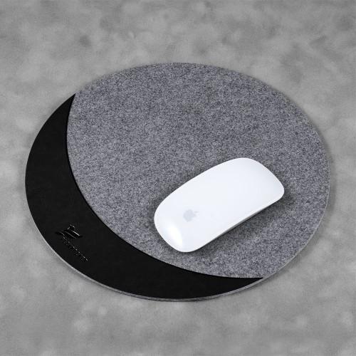 Коврик для мыши из фетра, цвет черный classic