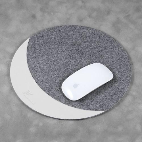 Коврик для мыши из фетра, цвет белый classic