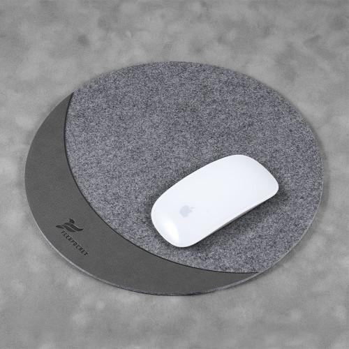 Коврик для мыши из фетра, цвет серый