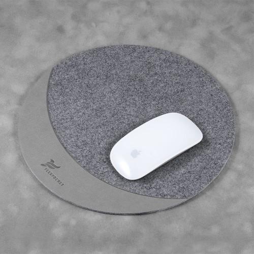 Коврик для мыши из фетра, цвет светло-серый