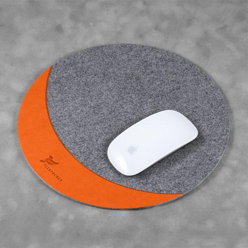 Коврик для мыши из фетра, цвет оранжевый