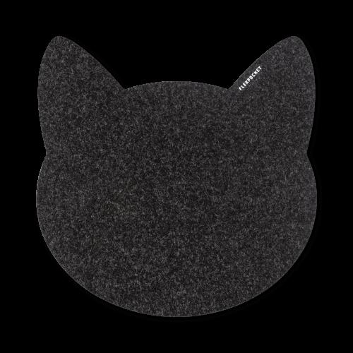 Коврик для мыши из фетра «Котик», цвет черный
