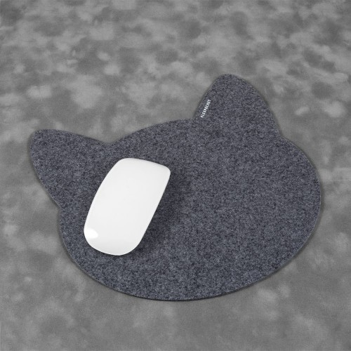Коврик для мыши из фетра «Котик», цвет серый