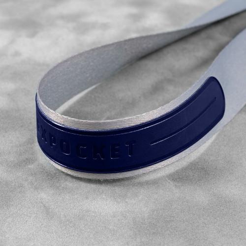 Лента с карманом горизонтальным, цвет темно-синий classic