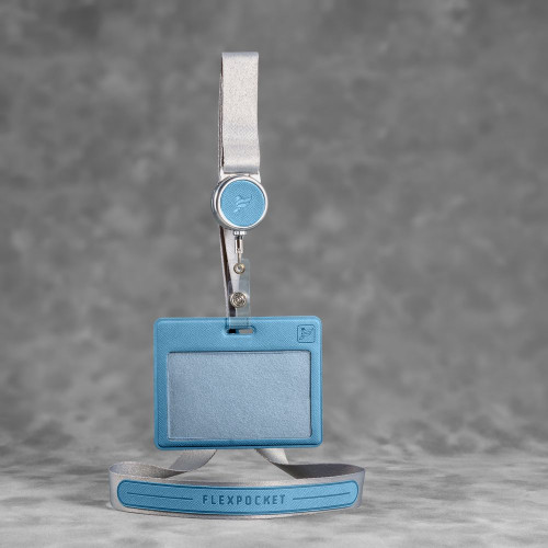Лента с карманом горизонтальным, цвет голубой