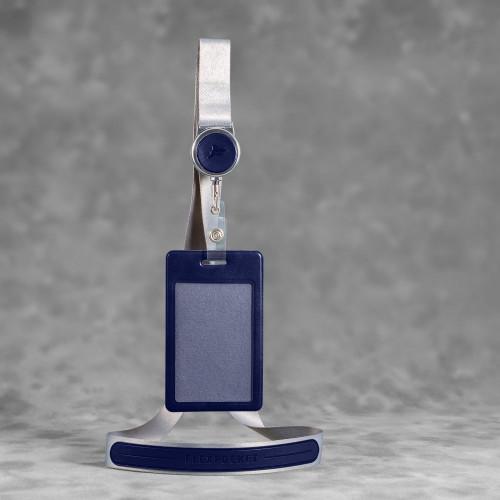 Лента с карманом вертикальным, цвет темно-синий classic