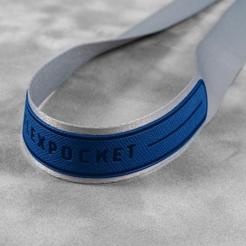 Лента с карманом вертикальным, цвет темно-синий
