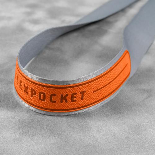 Лента с карманом вертикальным, цвет оранжевый