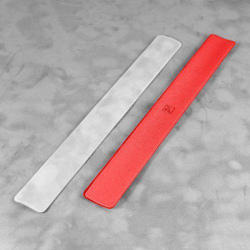 Slap-браслет, цвет красный