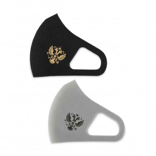 Многоразовая маска для лица Aero Silver Mask - с принтом, цвет черный