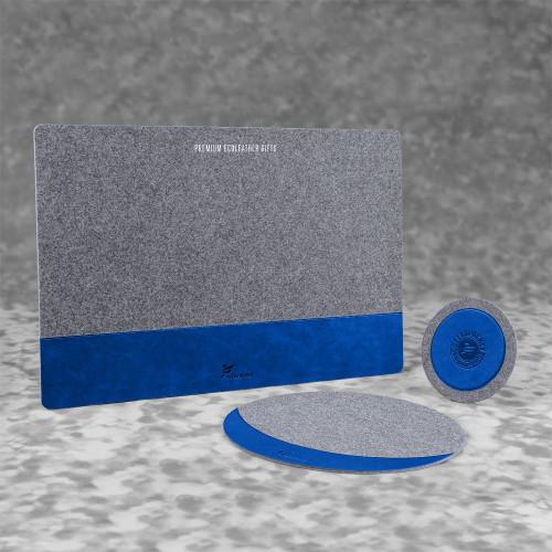 Настольный набор из фетра, цвет синий classic