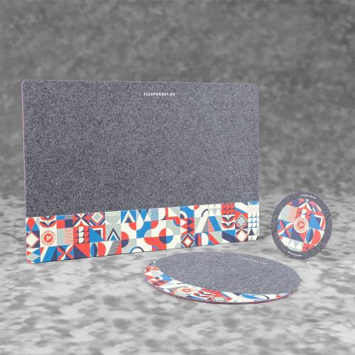 Настольный набор из фетра, полноцветная печать