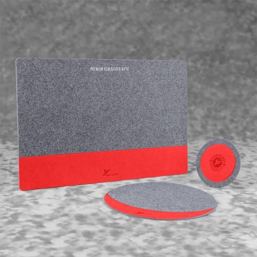 Настольный набор из фетра, цвет красный