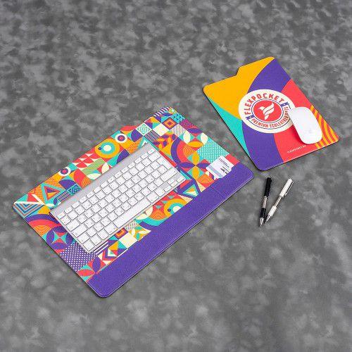 Настольный мат с ковриком для мыши, полноцветная печать
