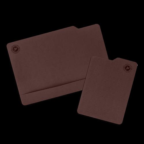 Настольный мат с ковриком для мыши, цвет коричневый
