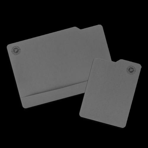 Настольный мат с ковриком для мыши, цвет серый