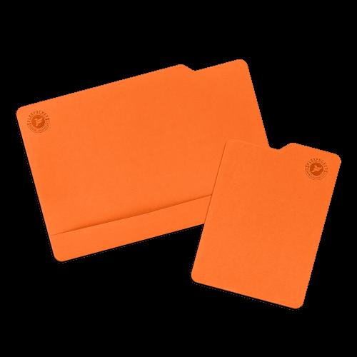 Настольный мат с ковриком для мыши, цвет оранжевый