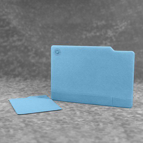 Настольный мат с ковриком для мыши, цвет голубой