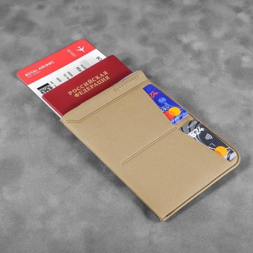 Обложка для паспорта - универсальная, цвет бежевый