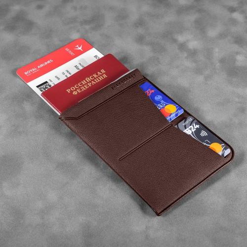 Обложка для паспорта - универсальная, цвет коричневый