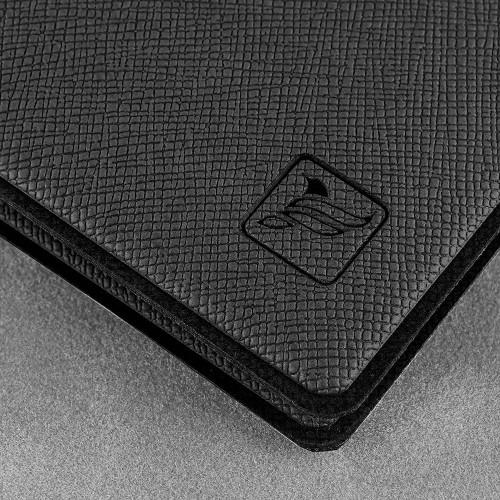 Обложка для удостоверения с карманом, цвет черный