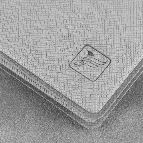 Обложка для удостоверения с карманом, цвет светло-серый