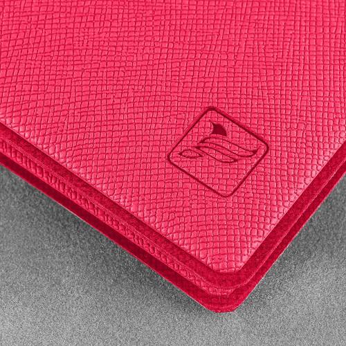 Обложка для удостоверения с карманом, цвет маджента