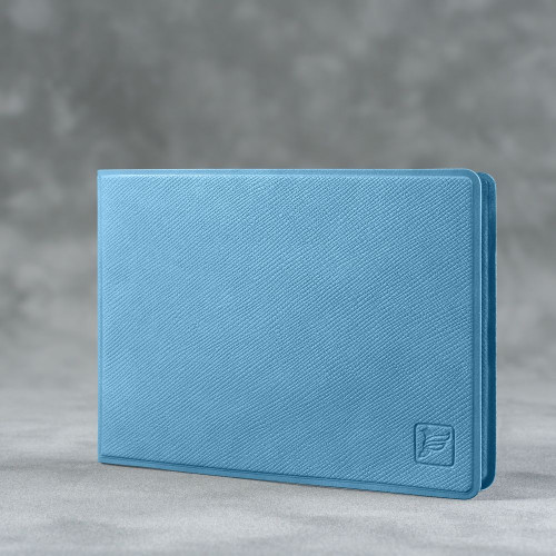 Обложка для удостоверения с карманом, цвет голубой