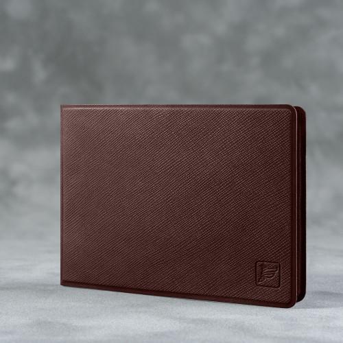 Обложка для удостоверения с карманом, цвет коричневый
