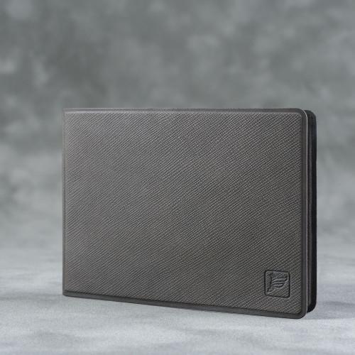 Обложка для удостоверения с карманом, цвет серый