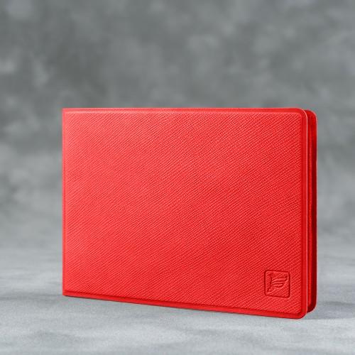 Обложка для удостоверения с карманом, цвет красный