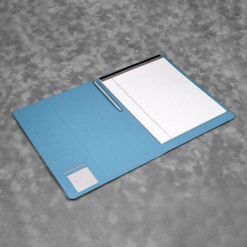 Блокнот-планшет А4 с обложкой, цвет голубой