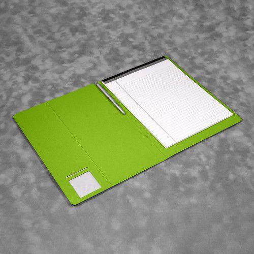 Блокнот-планшет А4 с обложкой, цвет зеленый