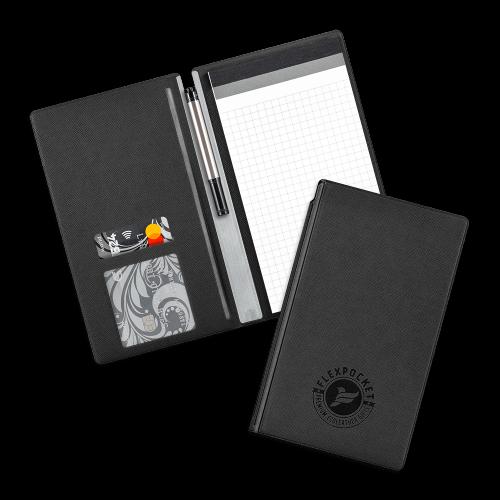Блокнот-планшет А6 с обложкой, цвет черный