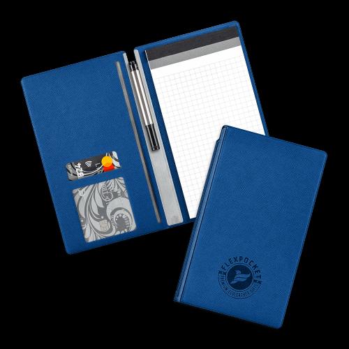Блокнот-планшет А6 с обложкой, цвет синий
