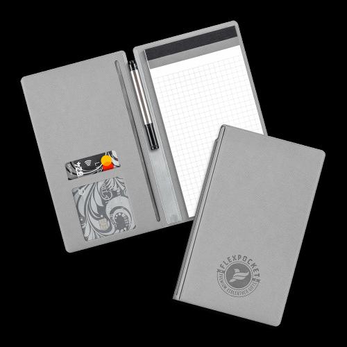 Блокнот-планшет А6 с обложкой, цвет светло-серый