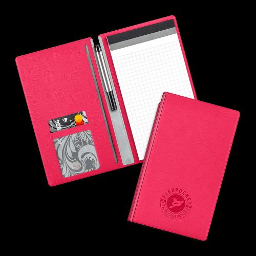 Блокнот-планшет А6 с обложкой, цвет маджента