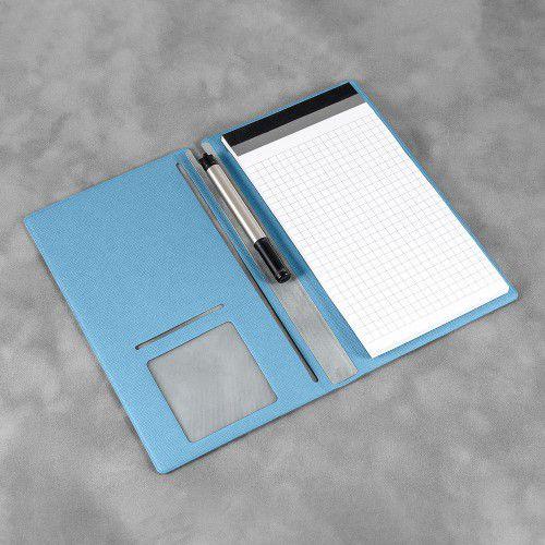 Блокнот-планшет А6 с обложкой, цвет голубой