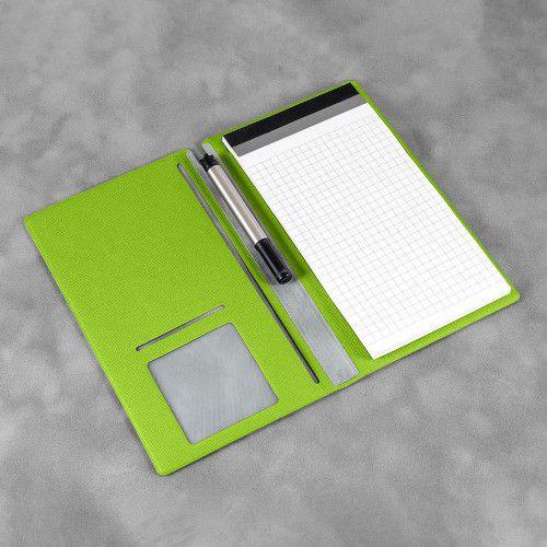 Блокнот-планшет А6 с обложкой, цвет зеленый