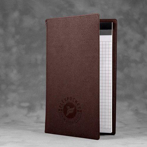 Блокнот-планшет А6 с обложкой, цвет коричневый