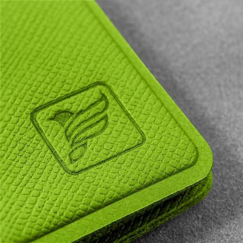 Обложка для паспорта с RFID-блокировкой, цвет зеленый